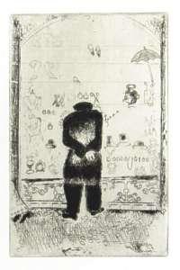 [Grossbild Chagall Original-Radierung L´Envie - Die Gier #R10]
