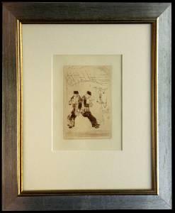 [Grossbild XXL Chagall Original-Radierung 'La Gourmandise - Die Völlerei' #R11r]