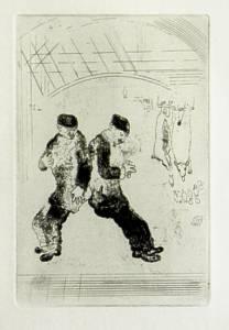 [Grossbild Chagall Original-Radierung La Gourmandise - Die Völlerei #R11]