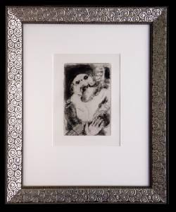 [Grossbild XXL Chagall Original-Radierung 'La Gourmandise - Die Völlerei' #R12]