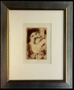 [Grossbild XXL Chagall Original-Radierung 'La Gourmandise - Die Völlerei' #R12r]