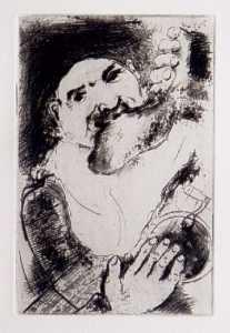 [Grossbild Chagall Original-Radierung La Gourmandise - Die Völlerei #R12]