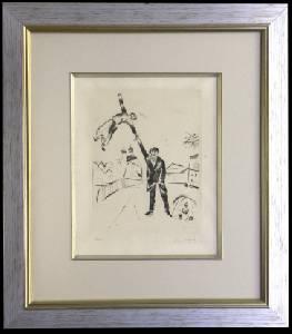 [Grossbild XXL Chagall Original-Radierung 'Der Spaziergang - La Promenade' #R17]