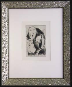 [Grossbild XXL Chagall Original-Radierung 'L´Avarice - Der Geiz' #R1]
