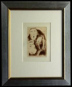 [Grossbild XXL Chagall Original-Radierung 'L´Avarice - Der Geiz' #R1r]