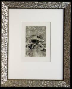 [Grossbild XXL Chagall Original-Radierung 'L´Avarice - Der Geiz' #R2]