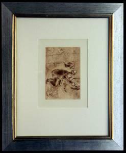 [Grossbild XXL Chagall Original-Radierung 'L´Avarice - Der Geiz' #R2r]