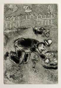 [Grossbild Chagall Original-Radierung L´Avarice - Der Geiz #R2]