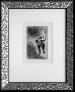 [Grossbild XXL Chagall Original-Radierung 'La Colère - Die Raserei' #R3]