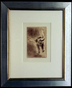 [Grossbild XXL Chagall Original-Radierung 'La Colère - Die Raserei' #R3r]