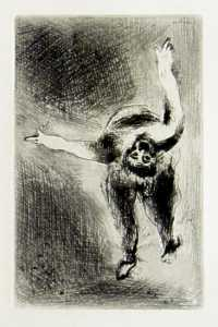 [Grossbild Chagall Original-Radierung La Col�re - Die Raserei #R3]
