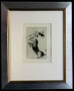 [Grossbild XXL Chagall Original-Radierung 'La Colère - Die Raserei' #R4]