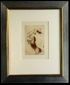 [Grossbild XXL Chagall Original-Radierung 'La Colère - Die Raserei' #R4r]