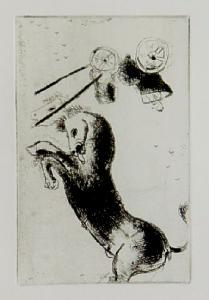 [Grossbild Chagall Original-Radierung La Col�re - Die Raserei #R4]