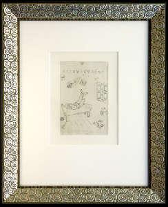 [Grossbild XXL Chagall Original-Radierung 'La Paresse - Die Faulheit' #R6]