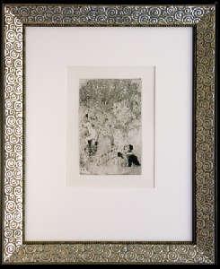 [Grossbild XXL Chagall Original-Radierung 'L´Envie - Die Gier' #R9]