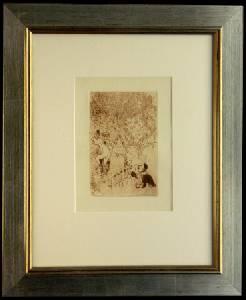 [Grossbild XXL Chagall Original-Radierung 'L´Envie - Die Gier' #R9r]