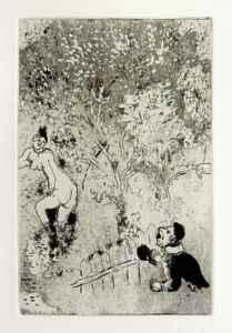 [Grossbild Chagall Original-Radierung L´Envie - Die Gier #R9]
