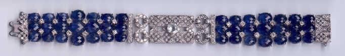 [Grossbild Saphir Diamant Gold Armband #10]