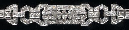 [Ausschnitt Brilliant Diamant Platin Armband #1]
