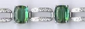 [Ausschnitt Turmalin Diamant Gold Armband #4]