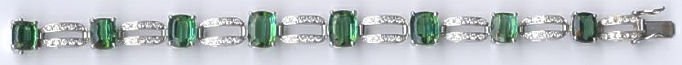 [Grossbild Turmalin Diamant Gold Armband #4]