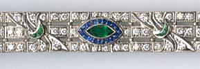 [Ausschnitt Smaragd Saphir Diamant Gold Armband #6]