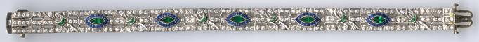 [Grossbild Smaragd Saphir Diamant Gold Armband #6]