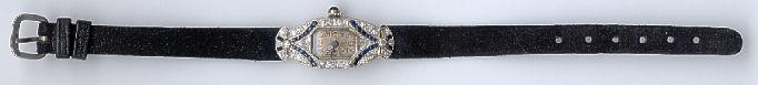 [Ausschnitt Platin Saphir Diamant Armbanduhr #2]