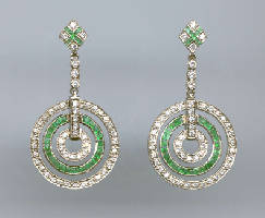 [Grossbild #14 Smaragd Diamant Ohrringe]