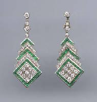 [Grossbild #15 Smaragd Diamant Ohrringe]