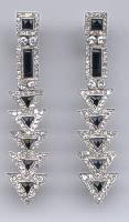 [Grossbild #22 Onyx Diamant Platin Ohrringe]