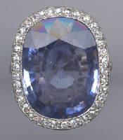 [Grossbild Ceylon Saphir Ring #19]