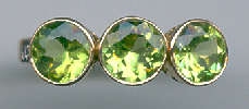 [Grossbild Peridot Brillant Gold Ring #25]