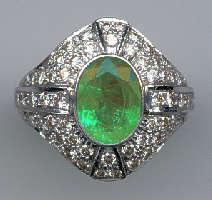 [Grossbild Smaragd Brillant Gold Ring #27]