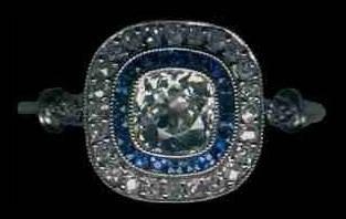 [Grossbild Saphir 'Target' Ring #2]