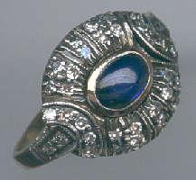 [Grossbild Saphir Diamant Gold Ring #31]