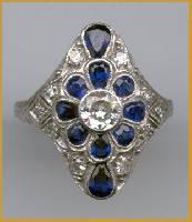[Grossbild Saphir Ring #5]